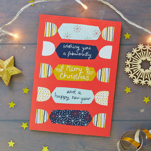 Crackers Christmas Card Pack - christmas cards: packs