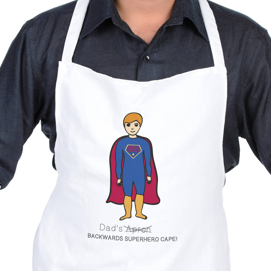 e65f4678 personalised dad's superhero cape apron by sarah hurley ...