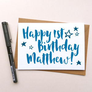Personalised 'Happy Birthday' Greeting Card