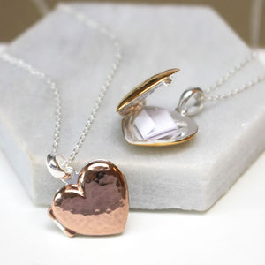 Hidden Message Heart Locket Necklace - shop by occasion
