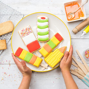 Personalised Lollipop Biscuit Bake And Craft Kit