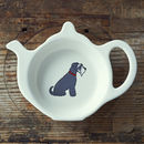 Grey Schnauzer Tea Bag Caddy