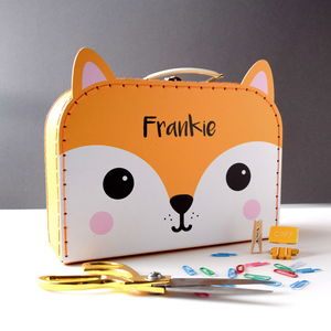Personalised Fox Suitcase