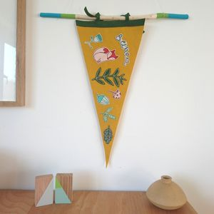 Personalised Woodland Penannt Flag