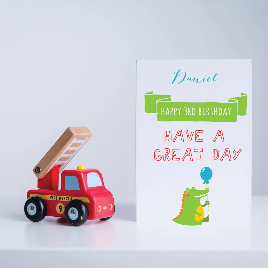 Personalised Crocodile Happy Birthday Card
