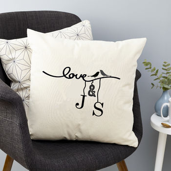 Personalised Love Bird Cushion
