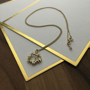 'Love You More' Necklace In Solid Gold
