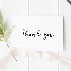 Wedding Thank You Card - wedding stationery