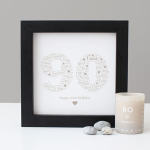 Personalised 90th Birthday Gift Print - personalised sale
