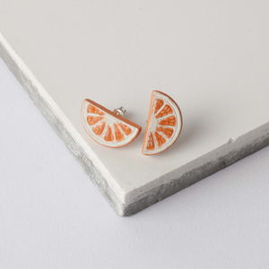 Citrus Slice Earrings - earrings