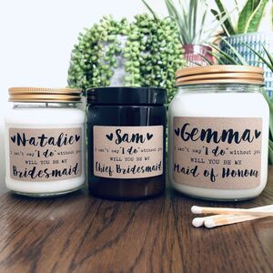 Personalised 'Can't Say I Do Without You' Soy Candle
