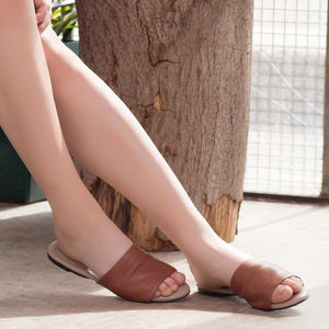 London Fields Leather Slides - shoes
