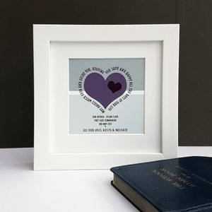 First Holy Communion Personalised Verse Print - posters & prints