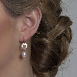 Gold Or Silver Drop Pearl Earrings