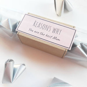 Origami 'Reasons Why You Are The Best Mum' - new in wedding styling
