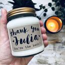 Personalised 'Thank You' Soy Scented Candle