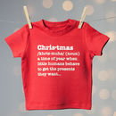 Christmas Definition Kids T Shirt