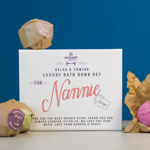 Personalised Luxury Bath Bomb Gift For Grandma