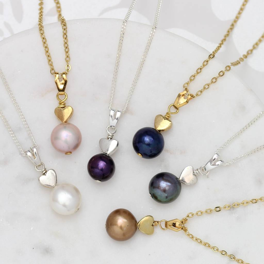 kyoto necklace zoom and pendant stud pearl white earrings