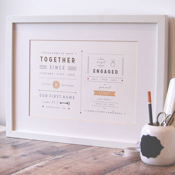 A4 Personalised 'This Story Is Ours' Print
