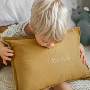 Personalised Modern Embroidered Nursery Cushion