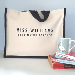 Personalised Teacher Bag - gifts for teachers