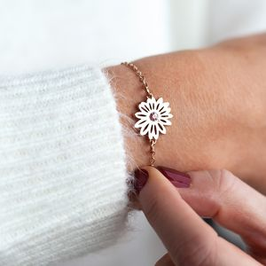 Personalised Birthflower Bracelet - jewellery