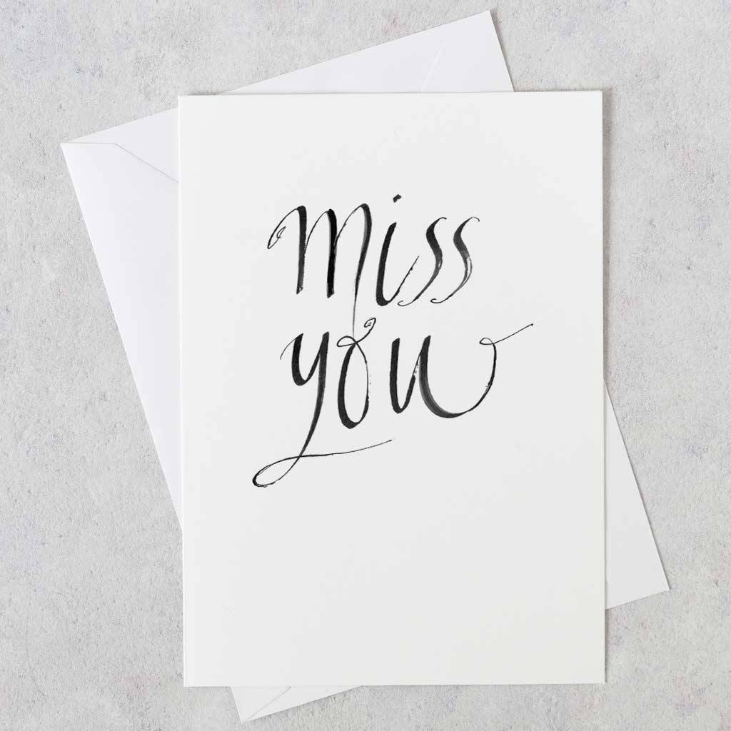 Miss you greeting card by gabrielle izen notonthehighstreet miss you greeting card m4hsunfo