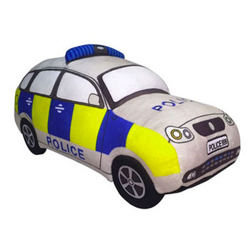 British Police Car Soft Toy