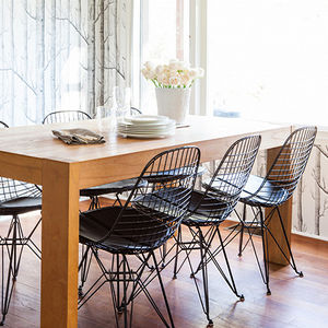Chair Metal Eames Style Dkr Wire Mesh Chair - furniture