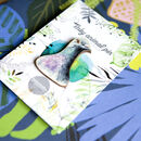 Inky Pigeon Eco Wooden Pin Brooch