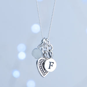 Personalised Sterling Silver Birthstone Necklace - charm jewellery