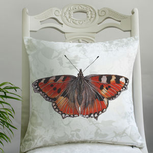 Red Admiral Butterfly Print Cushion