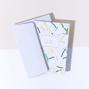 'It's Your Birthday' Confetti Card, Cool Grey Envelope