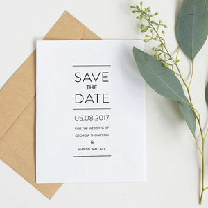 Save The Date Card Thompson Collection - save the date cards