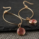 Cherry Quartz Oval Earrings