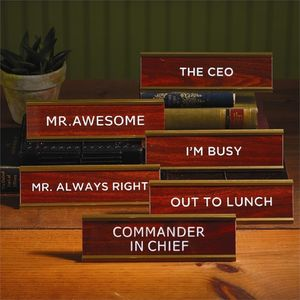 Like A Boss Desk Name Plates - decorative accessories