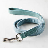 Teal Tweed Leather Lead - pets
