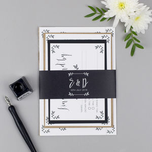 Modest Love Wedding Invite Sample Pack - save the date cards
