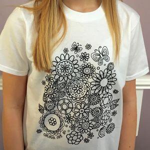 Flower Colour In T Shirt
