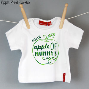 Children's Personalised Cute Fruit T Shirt