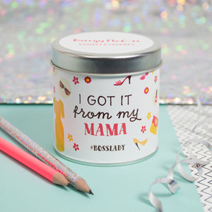 'Bosslady' Vanilla And Coconut Scented Tin Candle