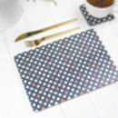 Safiya Placemat, Orange And Blue Table Mat