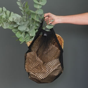 Net / String Bag Black Long Handle