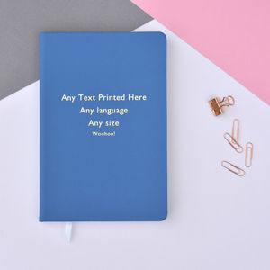 Any Text Personalised A5 Lined Notebook