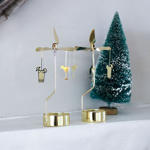 Cocktail Spinning Tea Light Gold