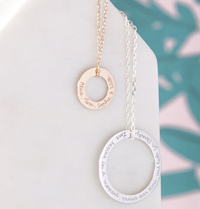 Personalised Eternity Necklace - necklaces & pendants