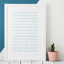 Be An Enthusiast In Life Roald Dahl Quote Print