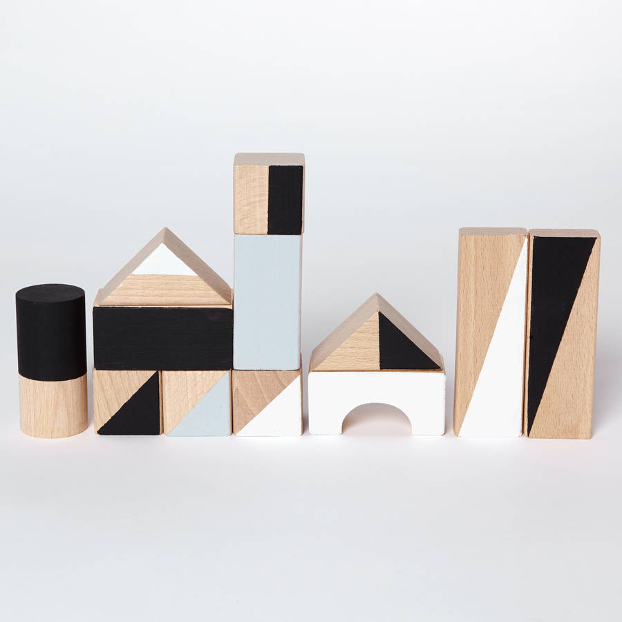Monochrome Wooden Blocks By Happy Little Folks