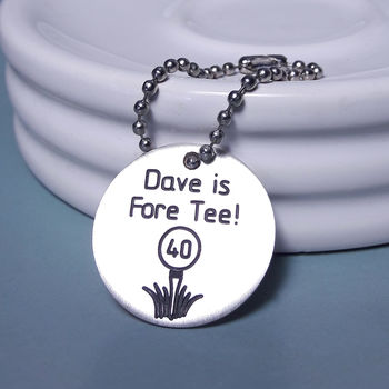 Personalised Silver Birthday Golf Ball Marker